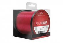 Волосінь коропова, коропова волосінь, волосінь FIN RUBIN CARP 0,28 мм / 1200m червона(рубін)