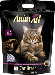 Наповнювач туалетів для кішок AnimAll Amethyst Violet силікагель Преміум Фіолетовий аметист 15 л/6.7 кг