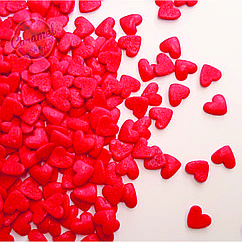Посыпка кондитерская Сердечки , Красные
