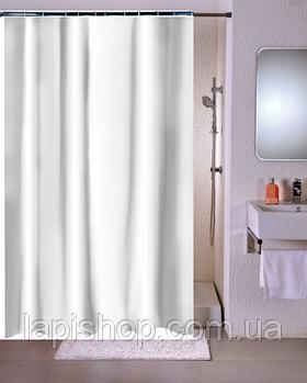 Занавеска в ванную тканевая 180 х 180 см Белая шторка для ванной