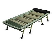 Раскладушка карповая, карповая раскладушка, карповая кровать Delphin  FlatLux 8 ног
