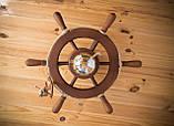 Люстра штурвал деревянная на 1 лампочку, фото 3
