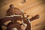 Люстра штурвал деревянная на 1 лампочку, фото 6