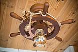 Люстра штурвал деревянная на 1 лампочку, фото 4