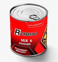 """Зернові подрібнені Robin """"Mix-6 Полуниця Бергамот"""" 900мл ж/б"""