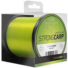 Волосінь коропова, коропова волосінь, волосінь на карпа, волосінь для риболовлі Strong carp Delpfin 0,32 мм / 1200m жовта
