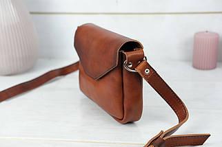 Сумка женская. Кожаная сумочка Лилу, Итальянская кожа Краст, цвет Вишня, фото 3