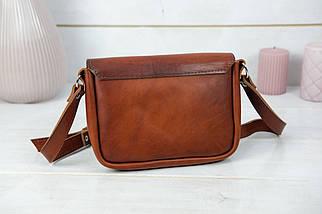 Сумка женская. Кожаная сумочка Лилу, Итальянская кожа Краст, цвет Вишня, фото 2