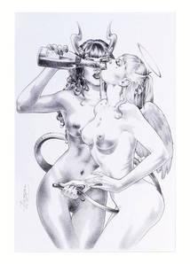 Листівка PERLA PILUCKI Furious, Angels vs Devils Vol. 1 Illustration (SQP, 2010)