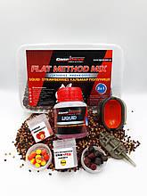 Методный пелети, флет метод мікс Кальмар-Полуниця (Squid-Strawberries) Carp Drive 7 в 1