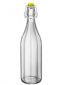 Пляшка Bormioli Rocco Oxford 390850FS1321990 (1 л) Жовта кришка