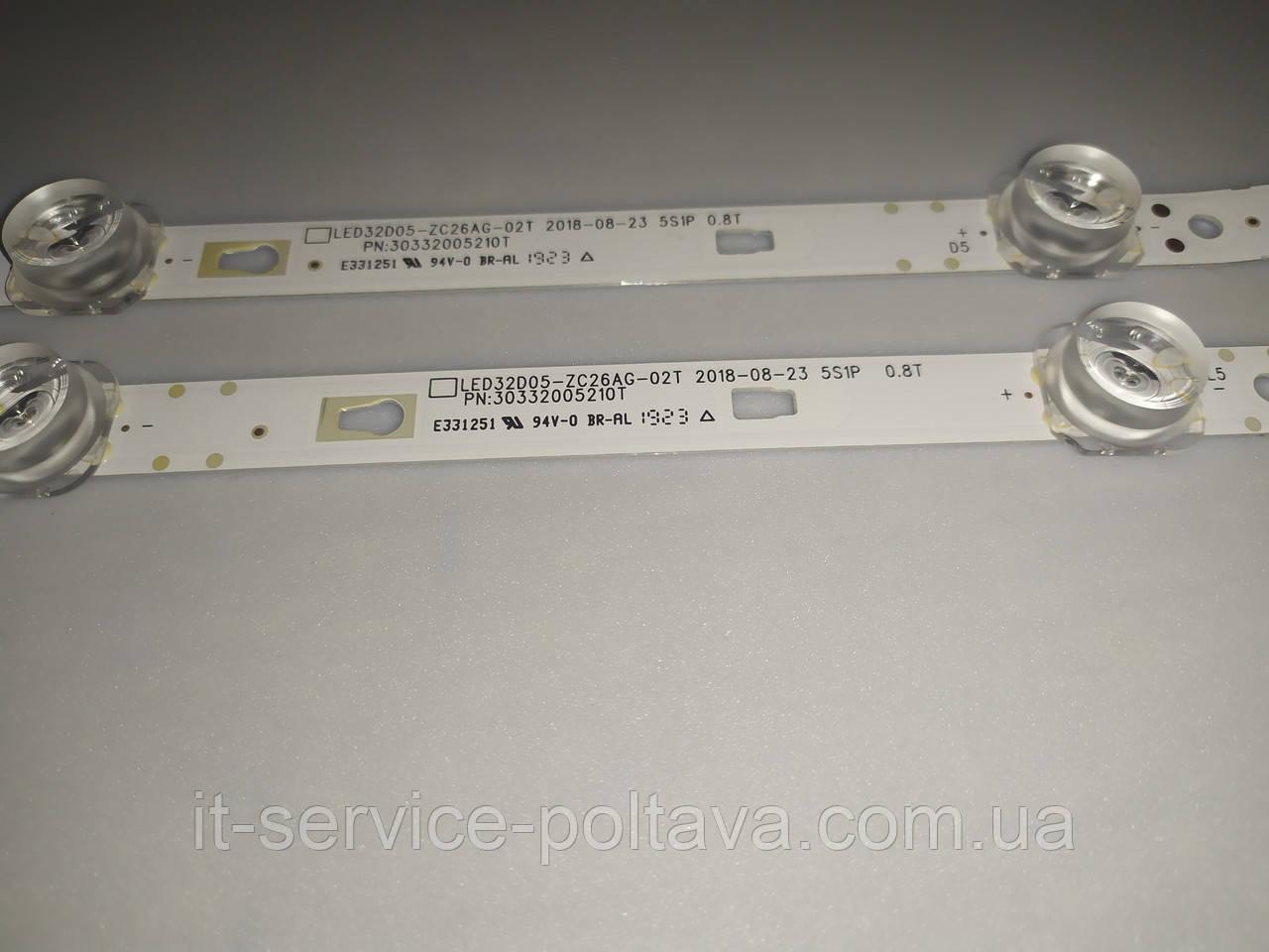 LED підсвічування LED32D05-ZC26AG-02T (30332005210T) для телевізора JVC