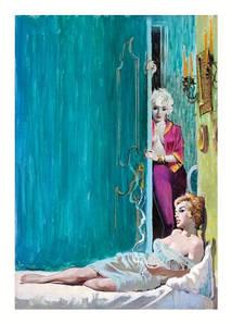 Листівка ERNEST CHIRIACA Love Never A Man, Beacon paperback cover, 1962