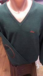 Свитер Джемпер мужской бренд Brioni с мысом и локтями