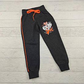 Спортивные брюки на девочку 6-7 лет тёмно-серые Турция