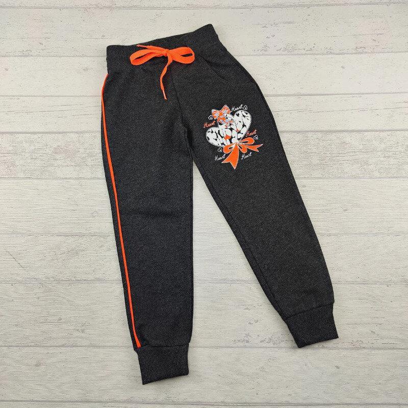 Спортивні штани на дівчинку 7-8 років темно-сірі Туреччина