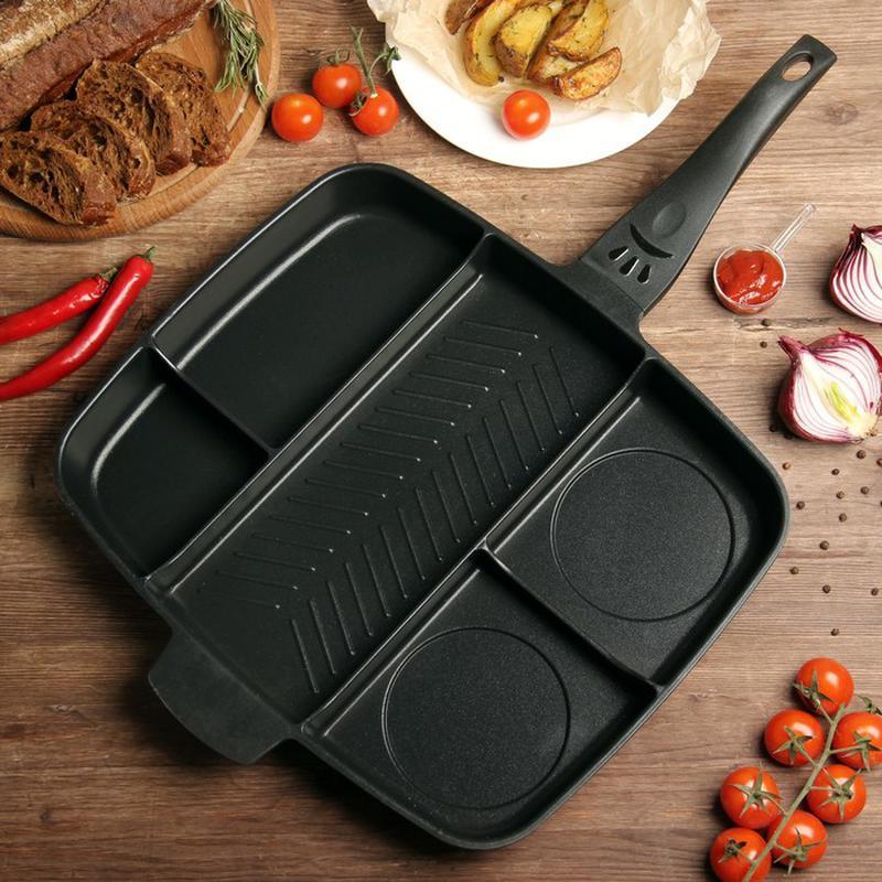Сковорода гриль Magic Pan 5 в 1 з антипригарним покриттям для приготування без олії зі знімною ручкою на