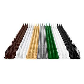Шипы от птиц и животных, 0.5 м (высота шипа 3 см) Черный