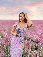 Романтичний довгий сарафан в рожевому кольорі