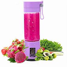 Портативный фитнес блендер USB Smart Juice Cup Fruits 6 ножей purple