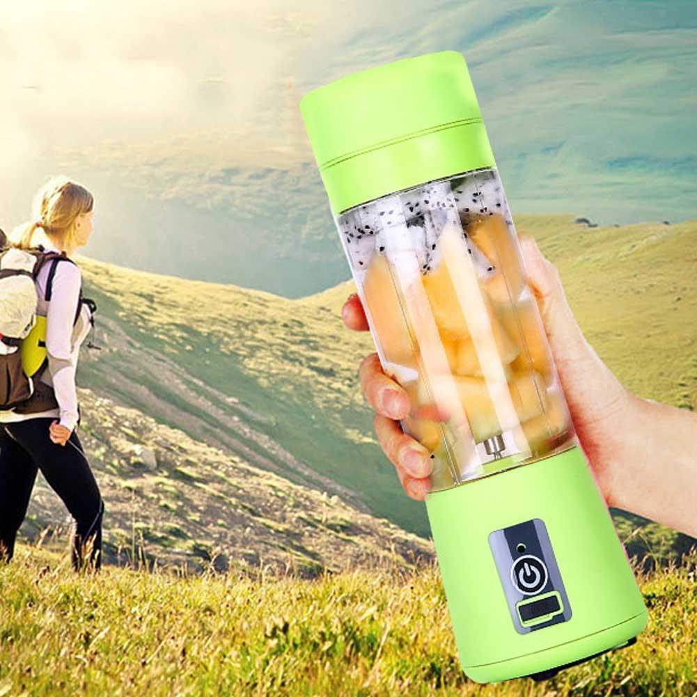 Портативный фитнес блендер USB Smart Juice Cup Fruits 6 ножей green