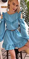 Сукня з відкритими плічками і рюшами, фото 1