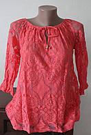 Блузка женская кружево с завязками