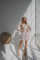 Ніжне біле плаття з мереживом, фото 1