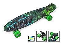 """Пенні борд скейт 22"""" колеса світяться H20"""