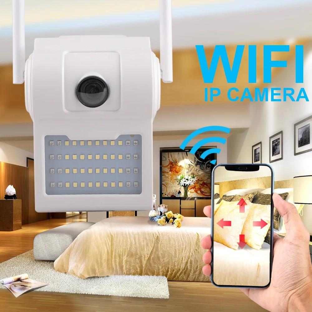 Вулична камера відеоспостереження з Led прожектором Wall Lamp Camera D2, ip камера відеоспостереження