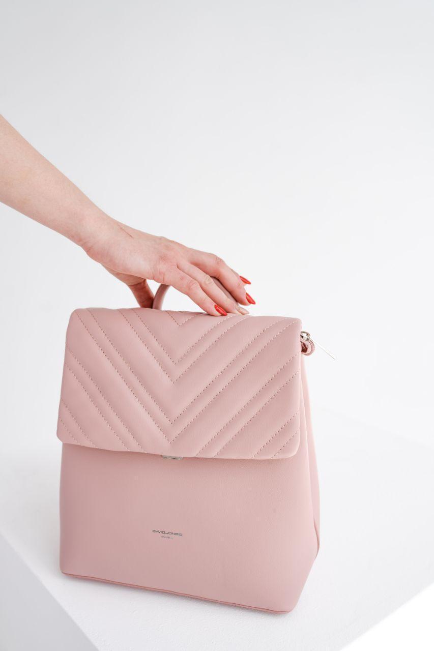 Жіночий модний рожевий рюкзак