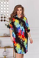 Платье рубашка женское больших размеров