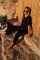 Легкий літній костюм чорного кольору, фото 1