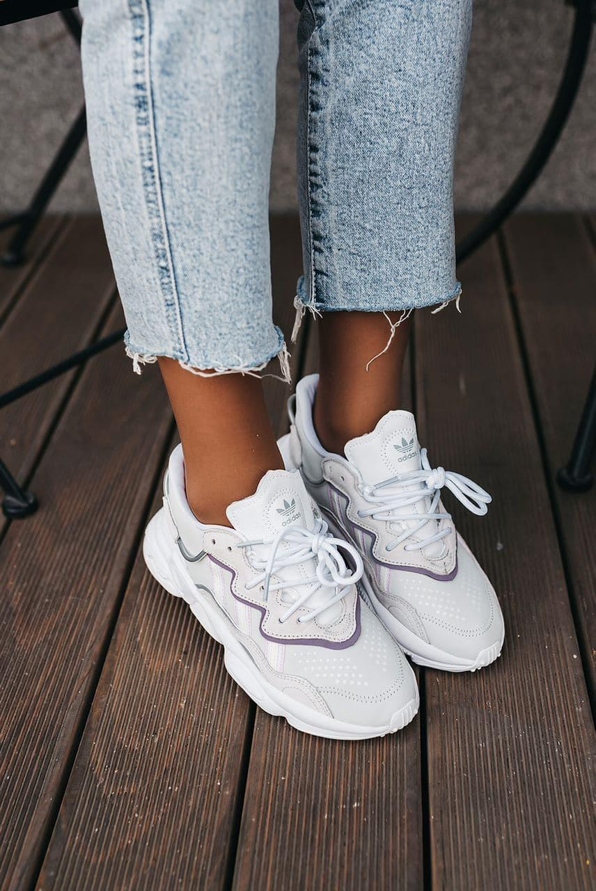 Белые Кроссовки Adidas Ozweego женские