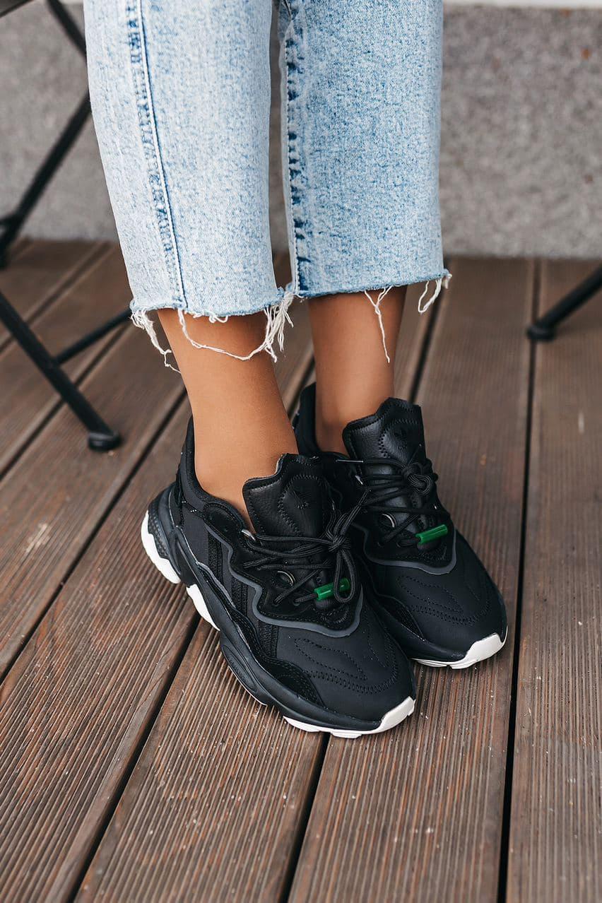 Черные женские Кроссовки Adidas Ozweego