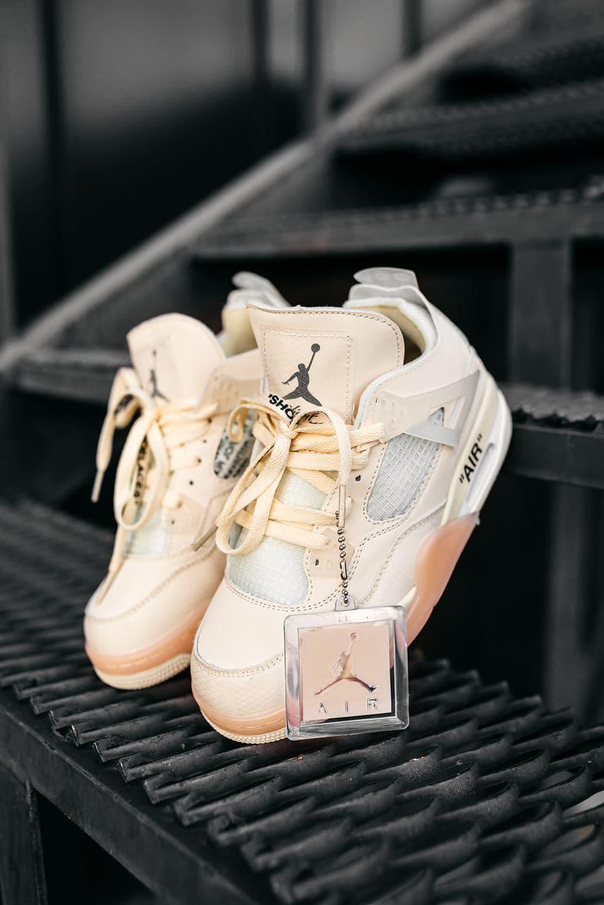 Женские кроссовки Jordan 4 x Off White