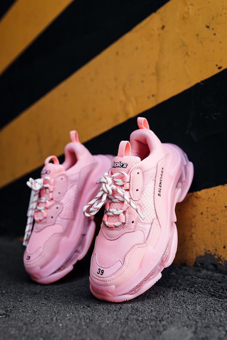 Розовые женские Кроссовки Balenciaga Triple S