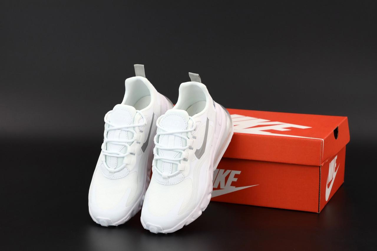 Мужские белые Кроссовки Nike Air Max 270 React