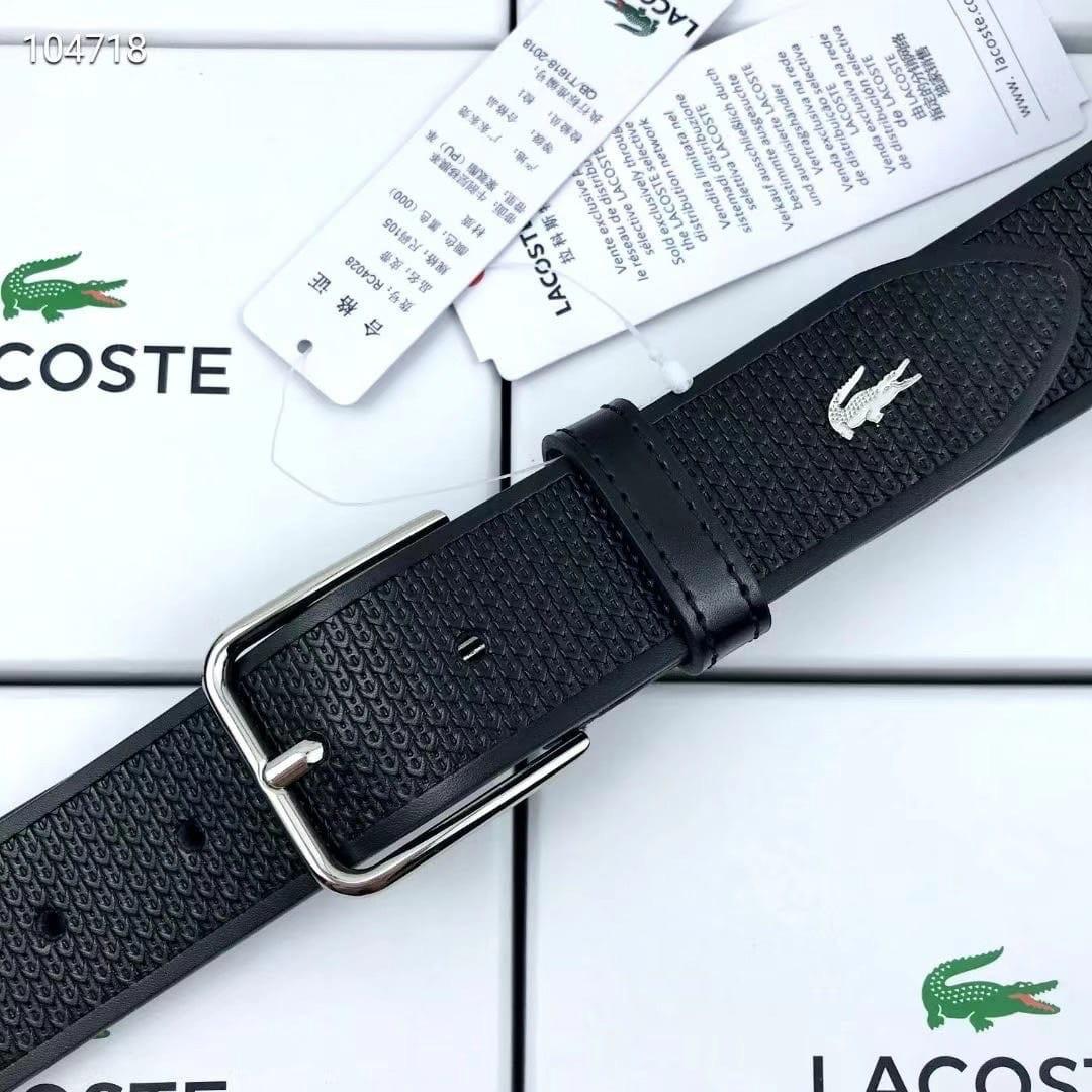 Кожаный мужской Ремень Lacoste