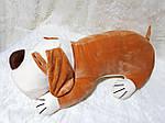 Плед - мягкая игрушка 3 в 1  Собака бежевая, фото 3