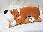Плед - мягкая игрушка 3 в 1  Собака бежевая, фото 2