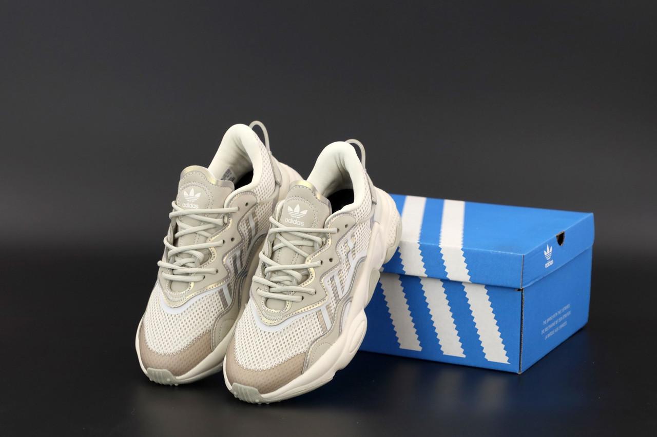 Женские бежевые Кроссовки Adidas Ozweego