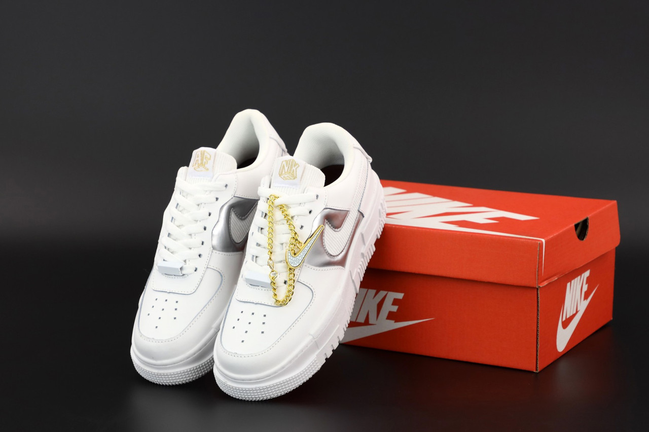 Білі жіночі Кросівки Nike Air Force Pixel
