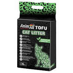 Наповнювач туалетів для кішок AnimAll Tofu Green Tea з ароматом зеленого чаю 2.6 кг (6 л)