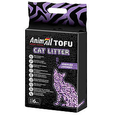 Наповнювач туалетів для кішок AnimAll Tofu Lavender з ароматом лаванди 2.6 кг (6 л)
