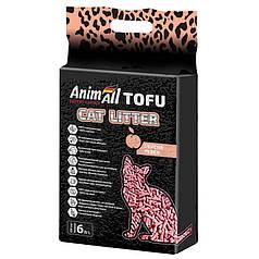 Наповнювач туалетів для кішок AnimAll Tofu Peach з ароматом персика 2.6 кг (6 л)