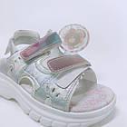 Детские босоножки девочкам ТомМ,  сандалии с голограммой на трёх липучках от TomM, фото 5