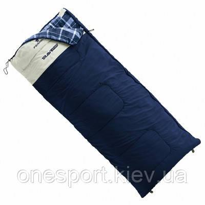 Спальный мешок Ferrino Travel 200/+5°C Deep Blue/White (Left) + сертификат на 150 грн в подарок (код