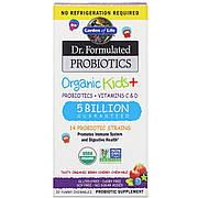 Пробиотики для детей + Витамины C и D, вкусные органические ягоды и вишня, Organic Kids +, Garden of Life, 30