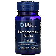 Резистентность к Гомоцистеину, Homocysteine Resist, Life Extension, 60 вегетарианских капсул
